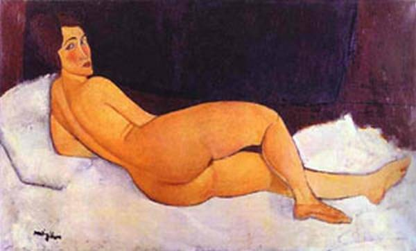 nude looking over her right shoulder 1917 XX private collection